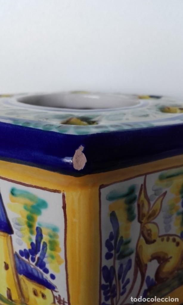 Antigüedades: Tintero cerámica Triana - Foto 8 - 170109344