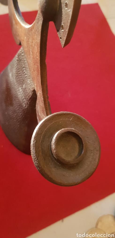 Antigüedades: Candelabro con forma de mujer en bronce - Foto 2 - 170200105