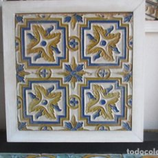 Antigüedades: PAREJA DE AZULEJOS SIGLO XIX (RAMOS REJANO). Lote 170224888