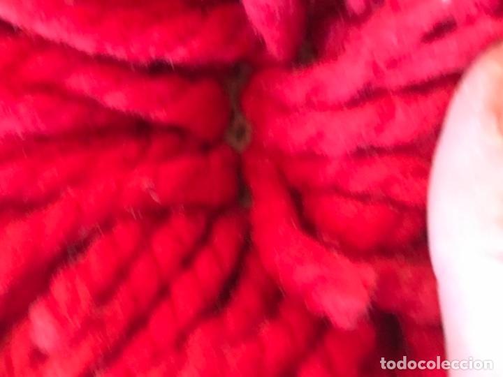 Antigüedades: antigua alfombra anudada a mano con lana larga ppd20 excelente ROJA - Foto 6 - 170231988