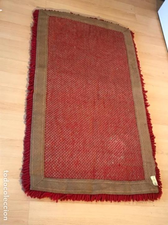 Antigüedades: antigua alfombra anudada a mano con lana larga ppd20 excelente ROJA - Foto 10 - 170231988