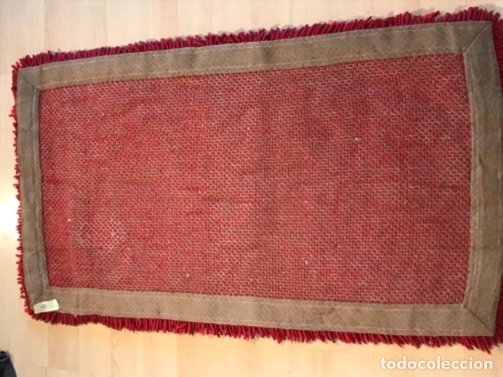 Antigüedades: antigua alfombra anudada a mano con lana larga ppd20 excelente ROJA - Foto 11 - 170231988