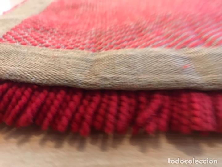 Antigüedades: antigua alfombra anudada a mano con lana larga ppd20 excelente ROJA - Foto 15 - 170231988