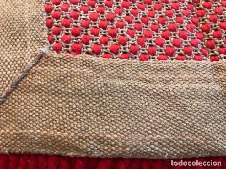 Antigüedades: antigua alfombra anudada a mano con lana larga ppd20 excelente ROJA - Foto 16 - 170231988
