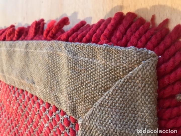Antigüedades: antigua alfombra anudada a mano con lana larga ppd20 excelente ROJA - Foto 18 - 170231988