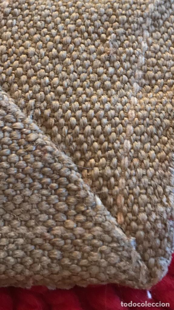 Antigüedades: antigua alfombra anudada a mano con lana larga ppd20 excelente ROJA - Foto 19 - 170231988