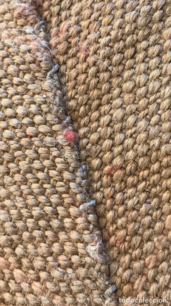 Antigüedades: antigua alfombra anudada a mano con lana larga ppd20 excelente ROJA - Foto 20 - 170231988
