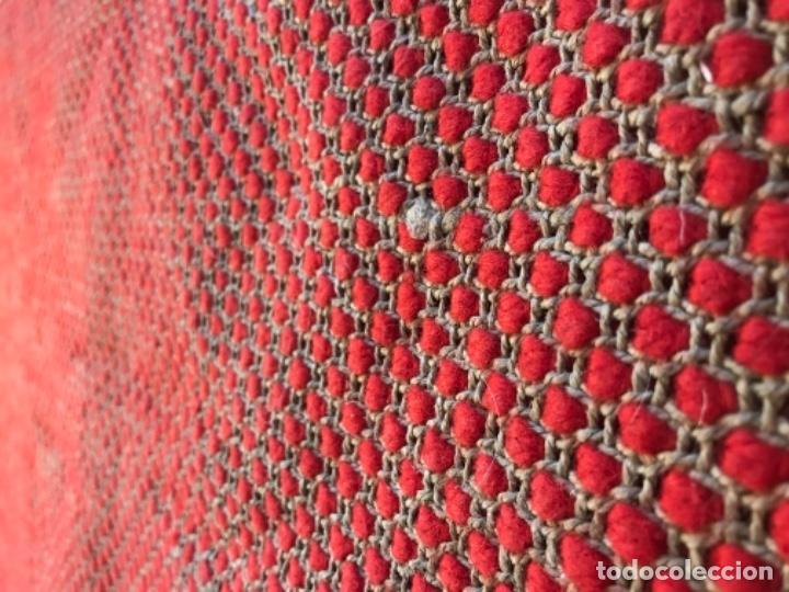 Antigüedades: antigua alfombra anudada a mano con lana larga ppd20 excelente ROJA - Foto 21 - 170231988