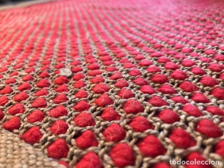 Antigüedades: antigua alfombra anudada a mano con lana larga ppd20 excelente ROJA - Foto 24 - 170231988