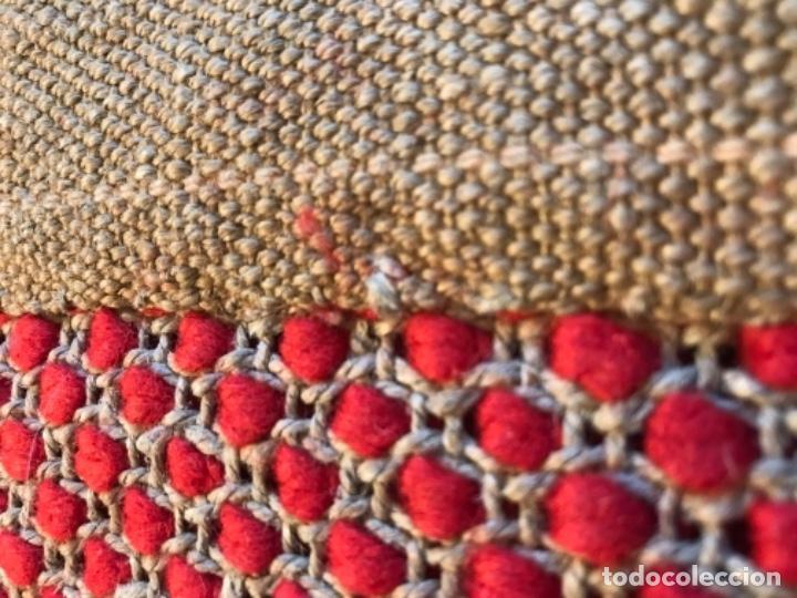 Antigüedades: antigua alfombra anudada a mano con lana larga ppd20 excelente ROJA - Foto 25 - 170231988