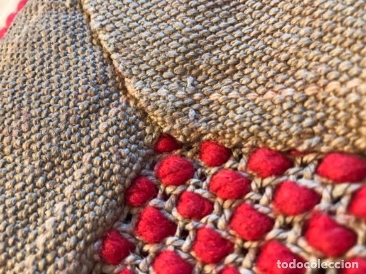 Antigüedades: antigua alfombra anudada a mano con lana larga ppd20 excelente ROJA - Foto 26 - 170231988