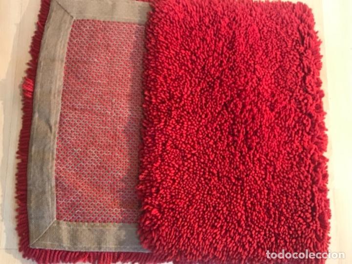 Antigüedades: antigua alfombra anudada a mano con lana larga ppd20 excelente ROJA - Foto 31 - 170231988