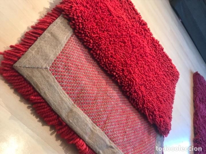 Antigüedades: antigua alfombra anudada a mano con lana larga ppd20 excelente ROJA - Foto 32 - 170231988