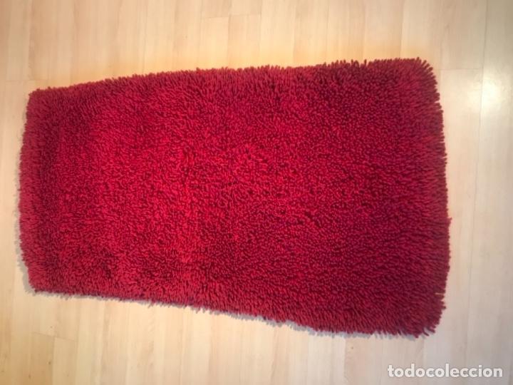 Antigüedades: antigua alfombra anudada a mano con lana larga 130x69 cm pcos s 20 excelente granate - Foto 23 - 170232384