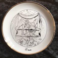 Antigüedades: 2 PLATOS DALI - EL TEATRO - LA DANZA - 7 ARTES - BIDASOA. Lote 170250509