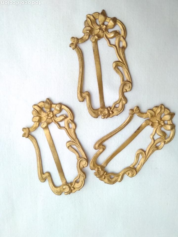Antigüedades: Hebilla pequeña de bronce al mercurio del siglo XIX - Foto 2 - 170258870