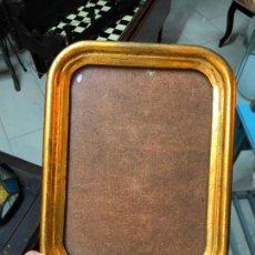 Antigüedades: MARCO DE MADERA Y DORADO CON MEDIDAS 27X21 CM E INTERIOR 22X16 CM. Lote 170259256
