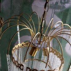 Antigüedades: LAMPARA DE CRISTALES. Lote 170289880