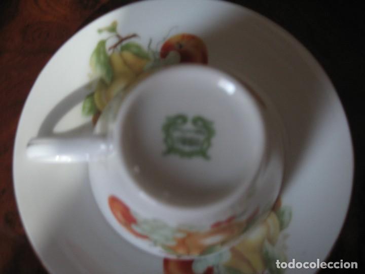 Antigüedades: JUEGO DE SEIS TAZAS Y PLATOS PARA CAFÉ UN UN PATITO - Foto 3 - 170313436