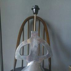Antigüedades: LAMPARA SOBREMESA DISEÑO METAL PESADO MADE IN ITALY. Lote 170316357