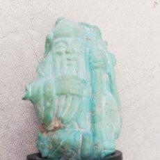 Antigüedades: FIGURA CHINA DE SABIO REALIZADA EN TURQUESA.. Lote 170339744