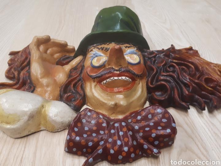 Antigüedades: Gran máscara papel mache - Foto 2 - 170339753