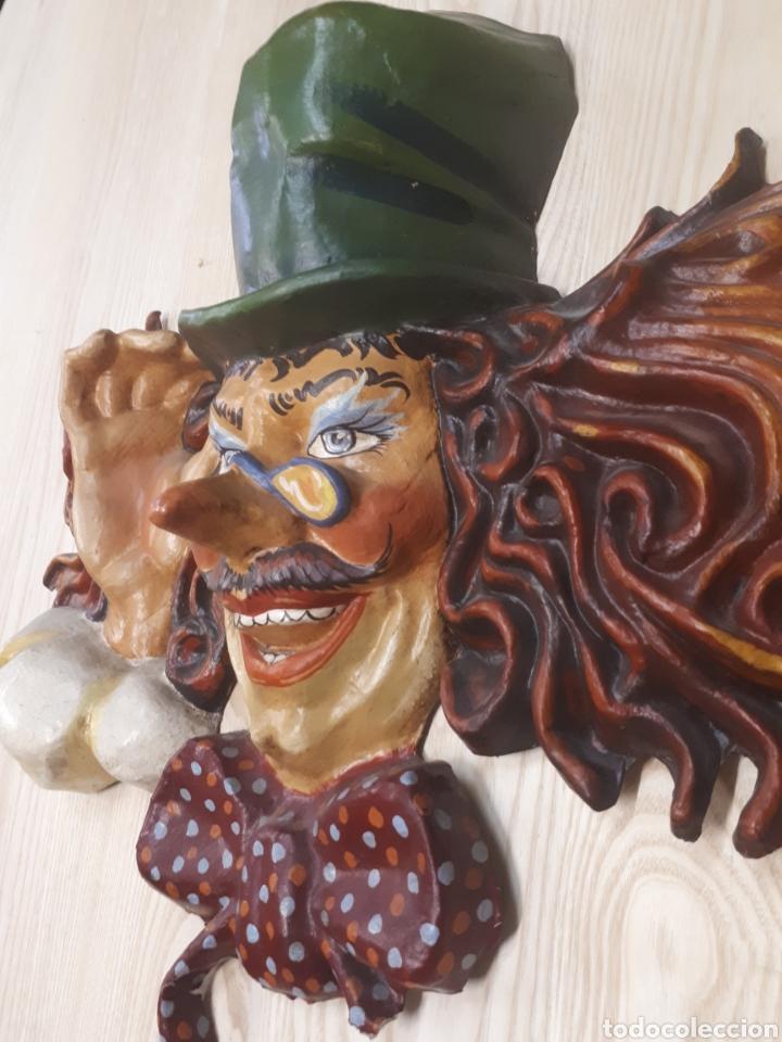 Antigüedades: Gran máscara papel mache - Foto 3 - 170339753