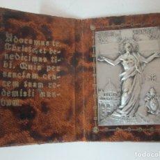 Antigüedades: RICORDO DI ROMA, RECUERDO DE ROMA - SAGRADO CORAZÓN, PLATEADO - ESTUCHE EN PIEL - 1933-34. Lote 170340896