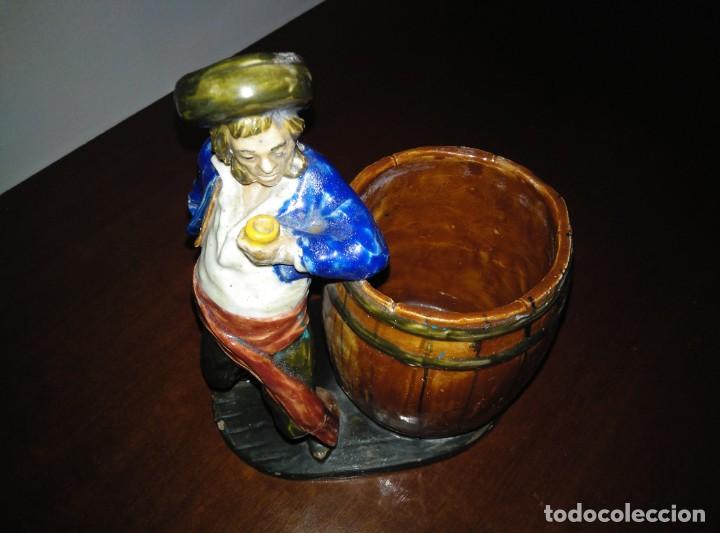 FIGURA CERÁMICA PINTADA A MANO (Antigüedades - Hogar y Decoración - Figuras Antiguas)