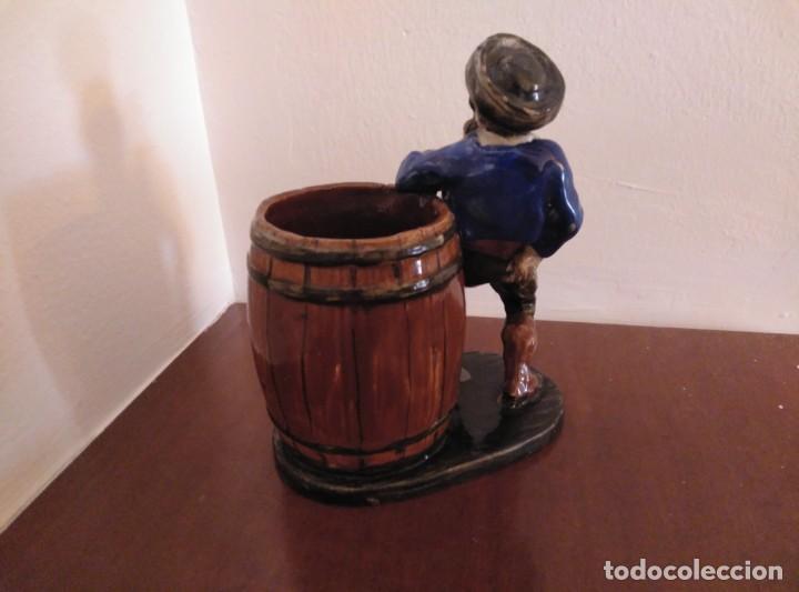 Antigüedades: Figura cerámica pintada a mano - Foto 4 - 170362836