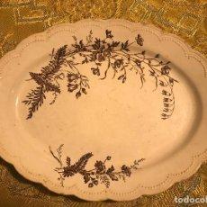 Antigüedades: FUENTE DE LOZA SANDEMAN. MACDOUGALL &CIA. CAMPANULA. CHINA OPAQUE. RSISTENED TRADE MA . Lote 170371572