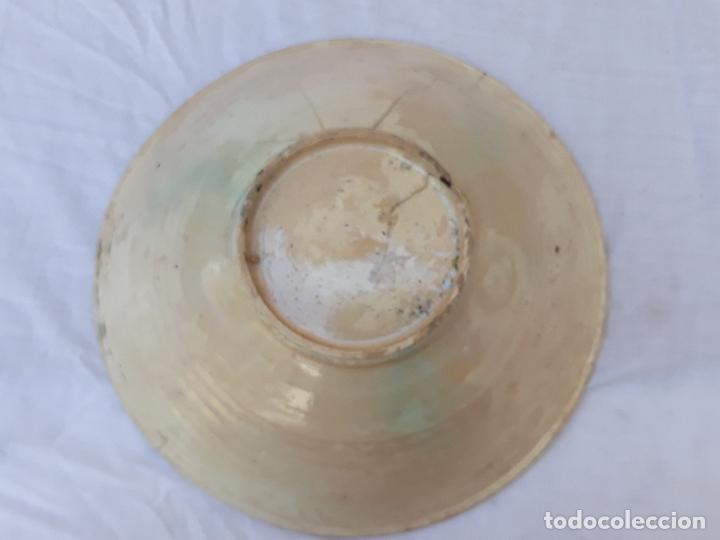 Antigüedades: CUENCO GRANDE ANTIGUO EN CERAMICA DE PUENTE DEL ARZOBISPO ( TOLEDO ) - Foto 6 - 170376676