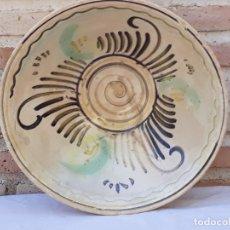 Antigüedades: CUENCO GRANDE ANTIGUO EN CERAMICA DE PUENTE DEL ARZOBISPO ( TOLEDO ). Lote 170376676