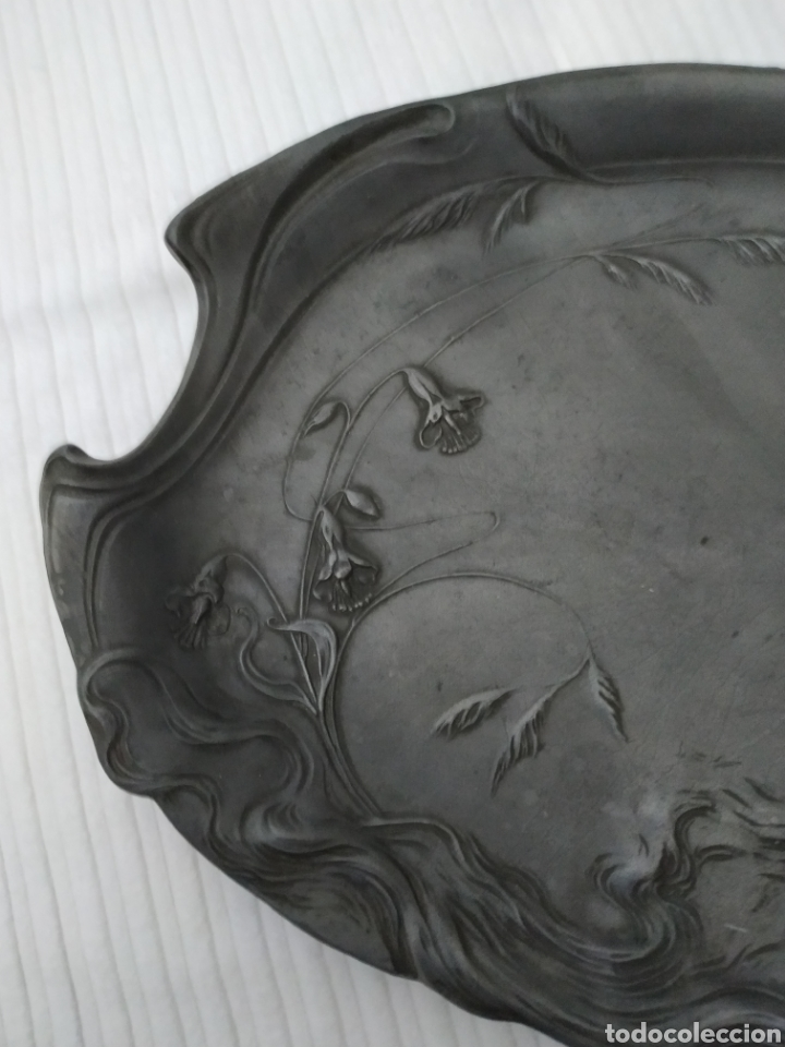 Antigüedades: Centro bandeja modernista .Ppios siglo xx - Foto 6 - 170384520