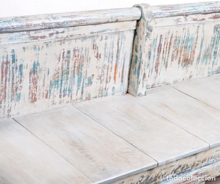 Antigüedades: Banco Antiguo Restaurado Gilbert - Foto 4 - 170393720