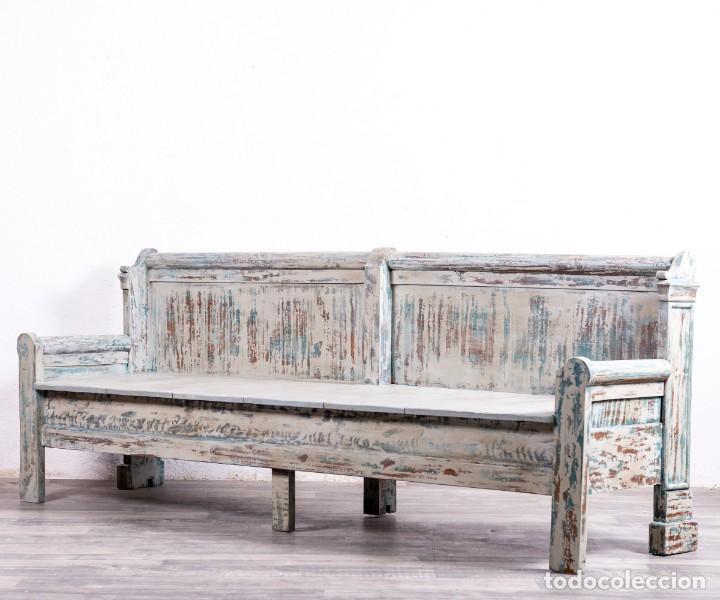 Antigüedades: Banco Antiguo Restaurado Gilbert - Foto 5 - 170393720