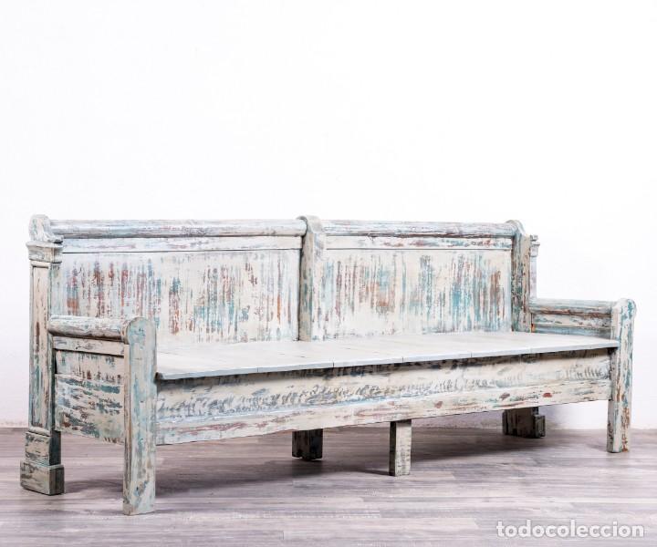 Antigüedades: Banco Antiguo Restaurado Gilbert - Foto 6 - 170393720