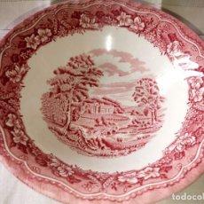 Antigüedades: ~~~~ BONITO CUENCO DE PORCELANA DECORADA OLD CASTLE, SELLADO EN LA BASE. MIDE 17 CM. ~~~~. Lote 170419832