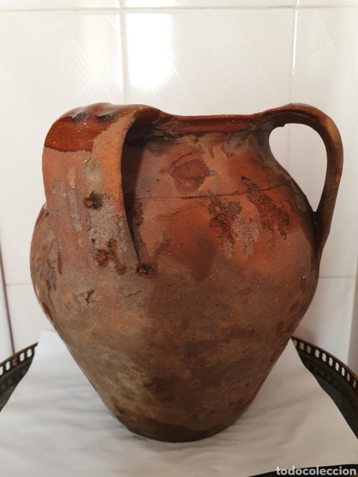 ANTIGUO Y GRAN PUCHERO DE DOS ASAS (Antigüedades - Porcelanas y Cerámicas - Otras)
