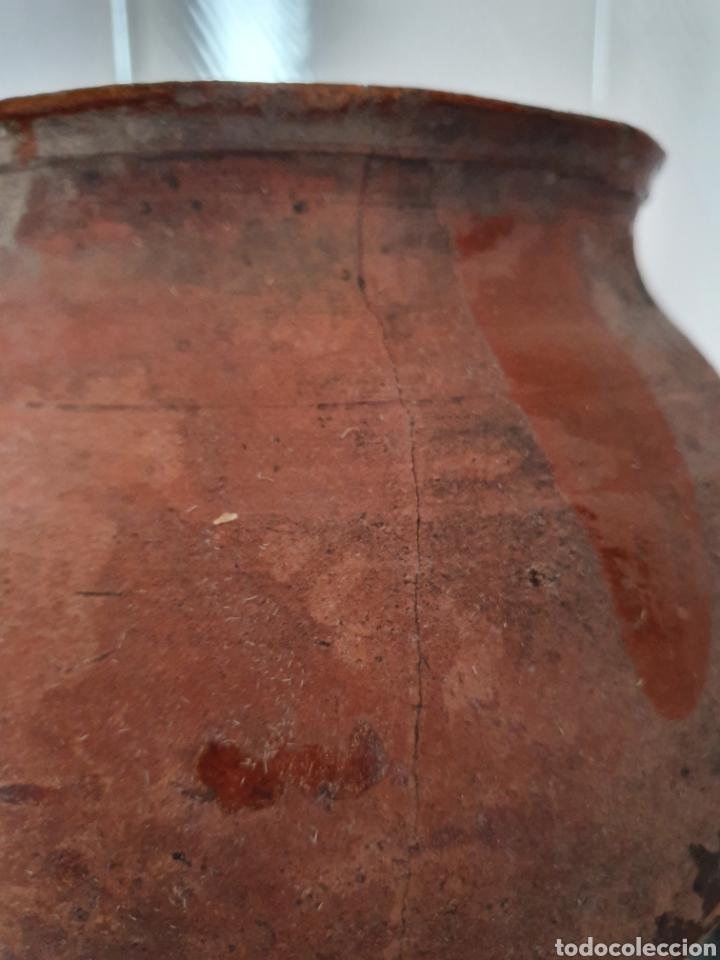 Antigüedades: ANTIGUO Y GRAN PUCHERO DE DOS ASAS - Foto 3 - 170424720