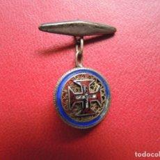 Antigüedades: GEMELO ESMALTADO MOTIVO CRUZ PATADA. PRINCIPIOS S.XX.. Lote 170420612