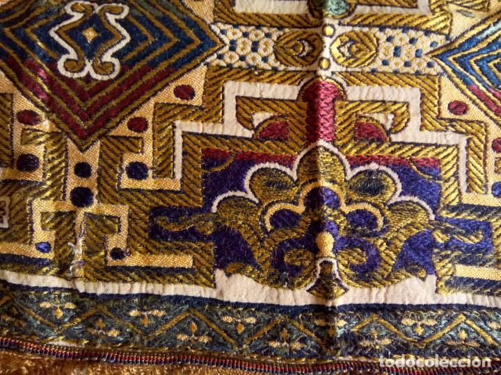 TAPETE BROCADO EN SEDA .1,50 M. (RF: 136/B,E) (Antigüedades - Hogar y Decoración - Tapetes Antiguos)