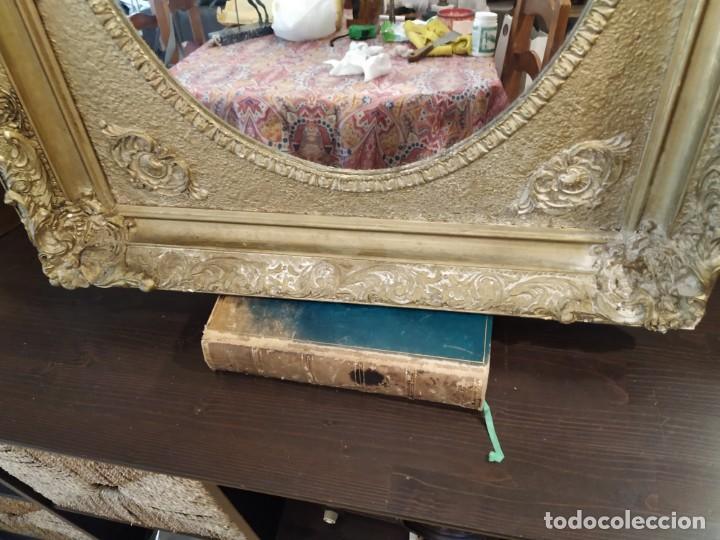 Antigüedades: ANTIGUO ESPEJO DORADO MADERA Y ESTUCO. - Foto 3 - 170435048