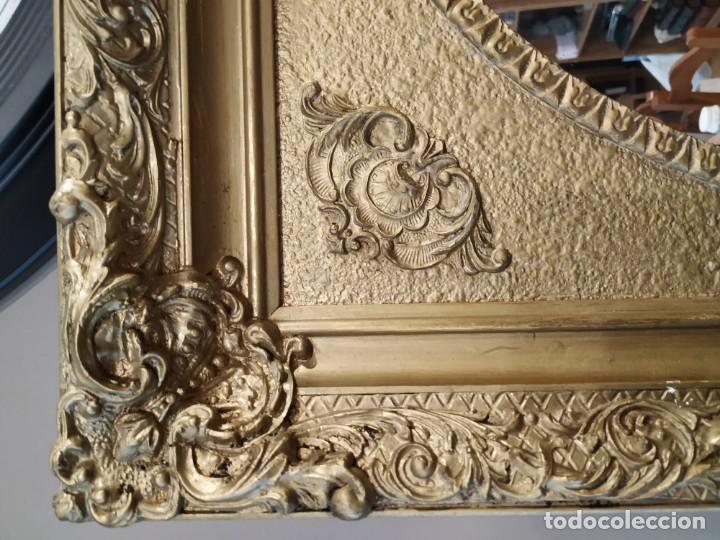 Antigüedades: ANTIGUO ESPEJO DORADO MADERA Y ESTUCO. - Foto 6 - 170435048