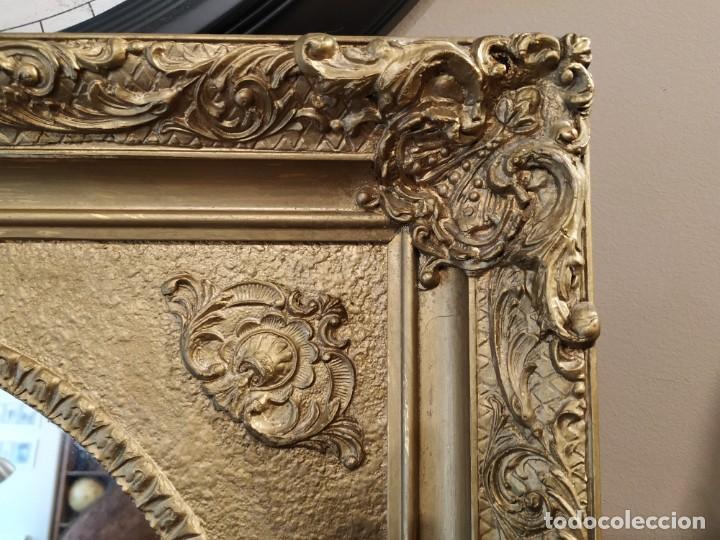 Antigüedades: ANTIGUO ESPEJO DORADO MADERA Y ESTUCO. - Foto 7 - 170435048