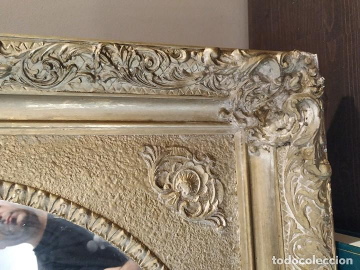 Antigüedades: ANTIGUO ESPEJO DORADO MADERA Y ESTUCO. - Foto 8 - 170435048