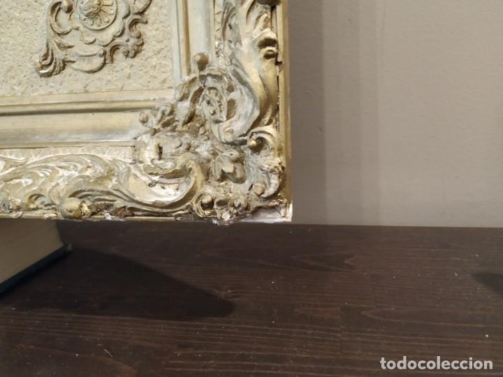 Antigüedades: ANTIGUO ESPEJO DORADO MADERA Y ESTUCO. - Foto 14 - 170435048