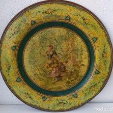 Antigüedades: BONITA BANDEJA EN COBRE O LATÓN AÑOS 20. Lote 170437824