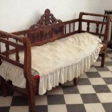 Antigüedades: ORIGINAL BANCO DE MADERA ANTIGUO.. Lote 170438936