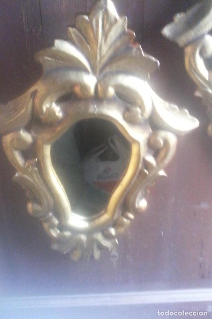 Antigüedades: 2 ESPEJOS CORNUCOPIAS . - Foto 5 - 170482992